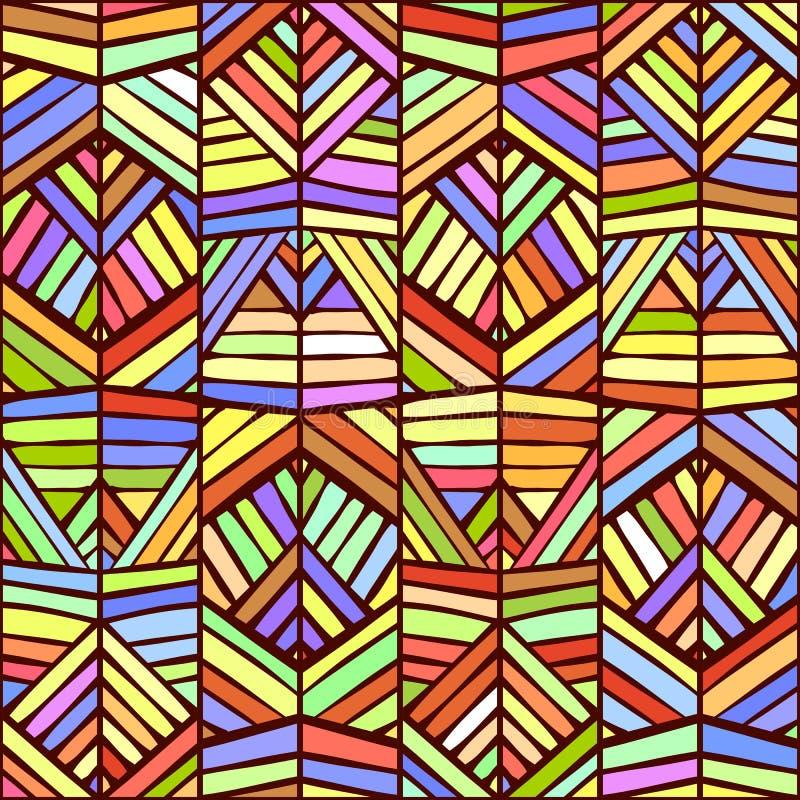 Diseño inconsútil del modelo del ornamento étnico colorido Textura del vector stock de ilustración