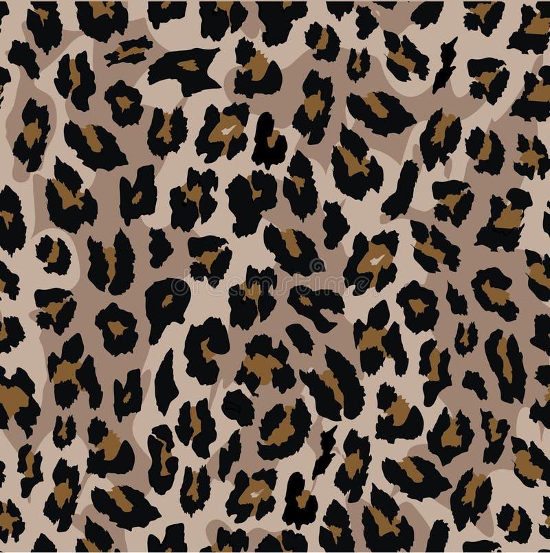 Diseño inconsútil del modelo del leopardo Fondo de la ilustración del vector ilustración del vector