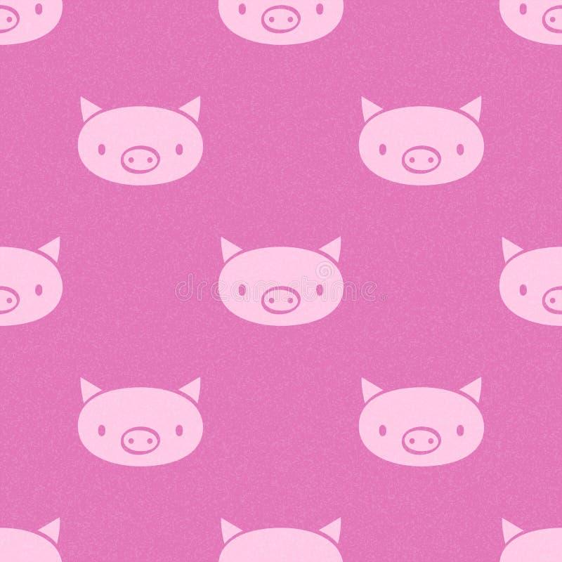 Diseño inconsútil del modelo del vector lindo del cerdo Textura para los papeles pintados, ilustración del vector