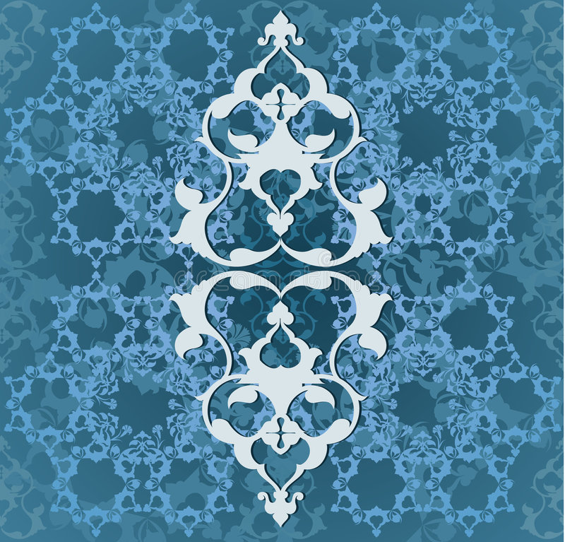Diseño inconsútil turco del otomano tradicional ilustración del vector