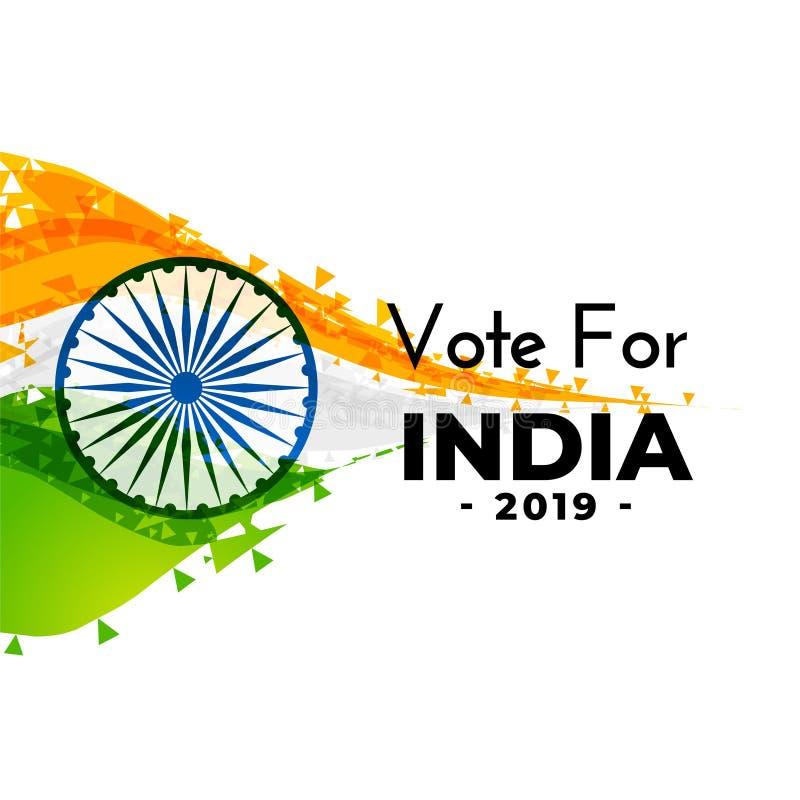 Diseño indio abstracto de la bandera de la elección stock de ilustración