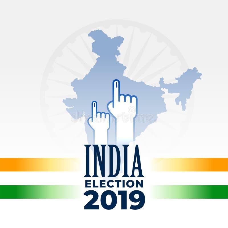 Diseño indio 2019 de la bandera de la elección ilustración del vector