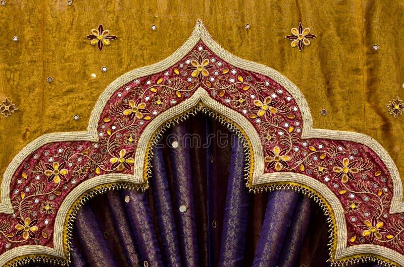 Diseño indio de la tela imagenes de archivo