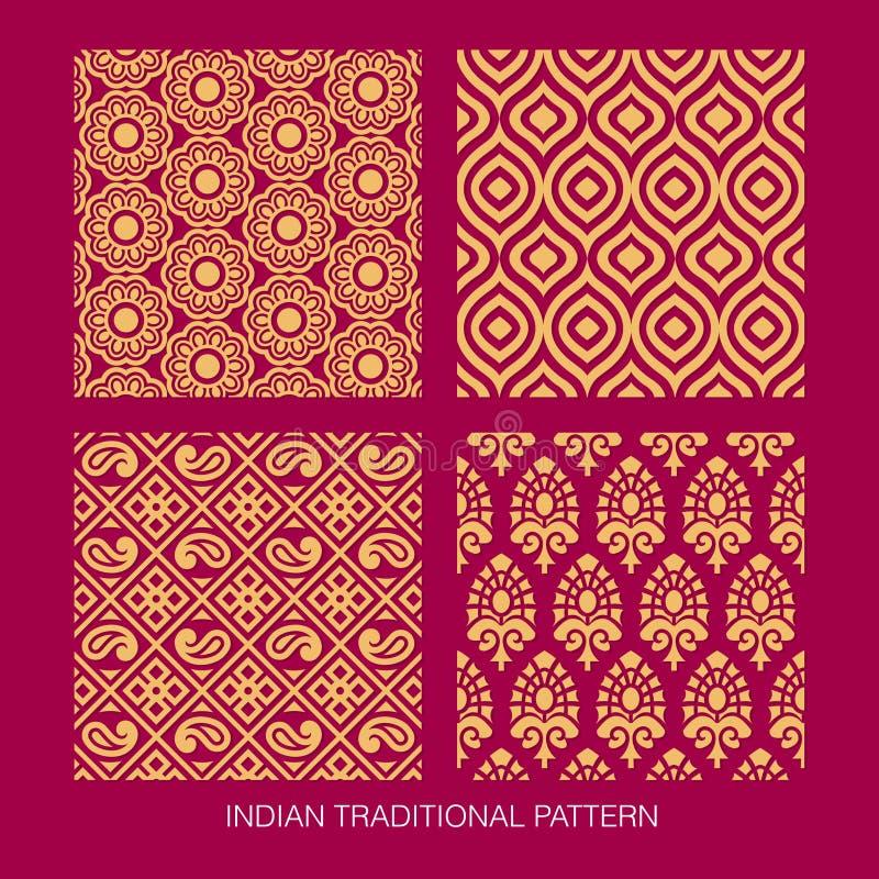 Diseño indio del modelo ilustración del vector
