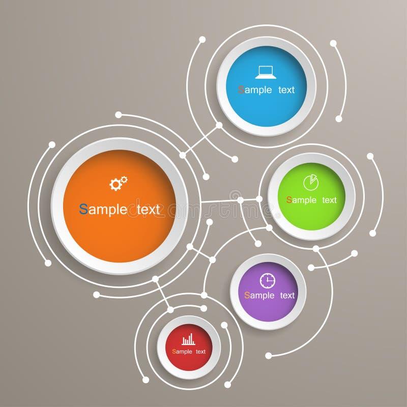 Diseño infographic abstracto de la plantilla stock de ilustración