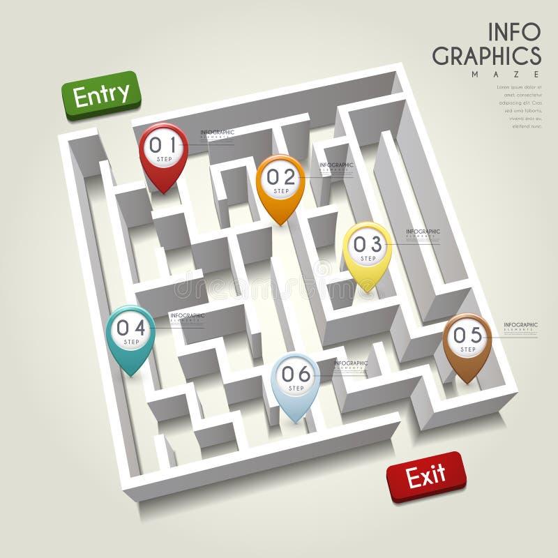 Diseño infographic creativo stock de ilustración