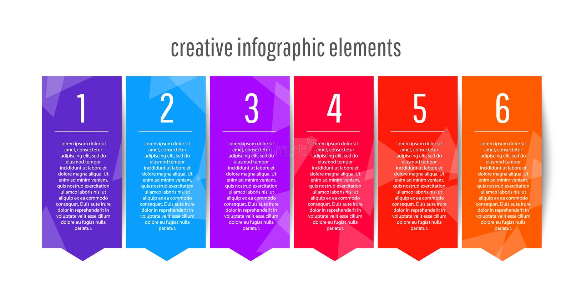 Diseño infographic de la plantilla infographic creativa para sus presentaciones del negocio libre illustration
