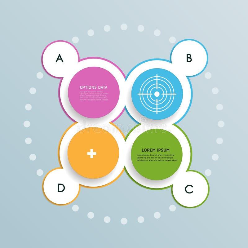 Diseño infographic de la plantilla de los círculos mínimos libre illustration
