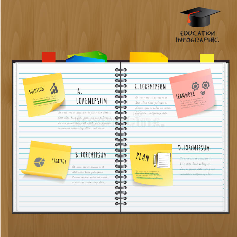Diseño infographic de la plantilla del concepto de la conferencia de la educación libre illustration