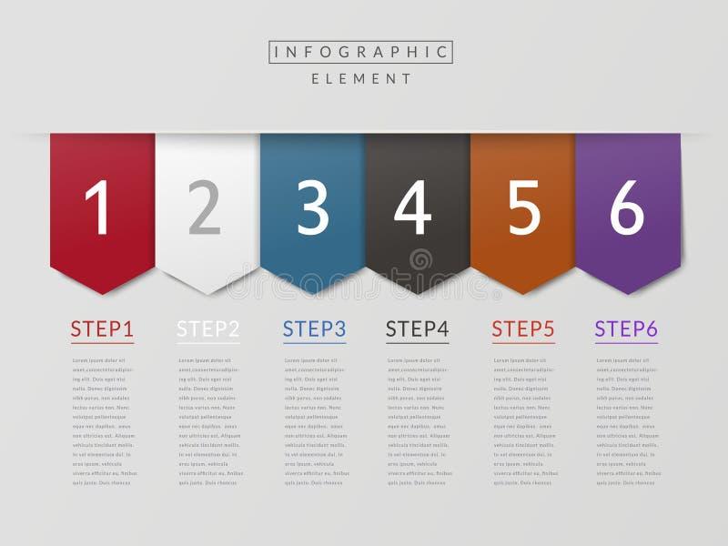 Diseño infographic de la simplicidad ilustración del vector