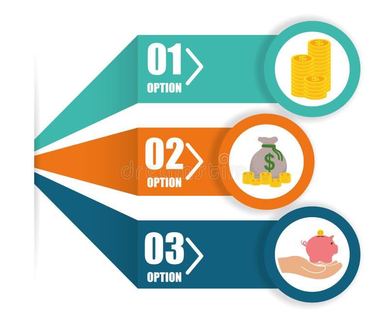Diseño infographic del dinero ilustración del vector