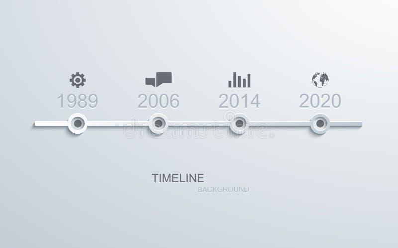 Diseño infographic del elemento de la cronología del vector stock de ilustración