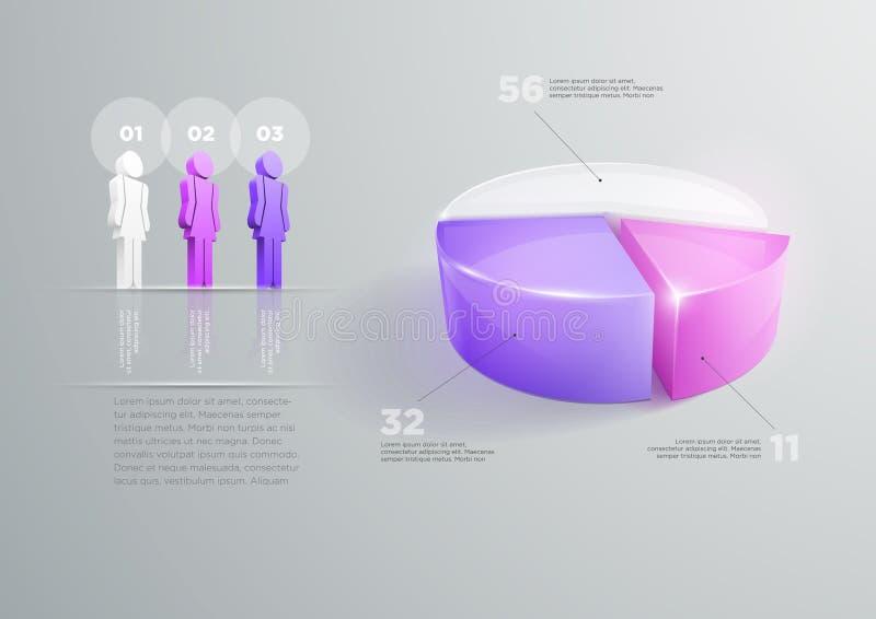 Diseño infographic del gráfico de sectores libre illustration