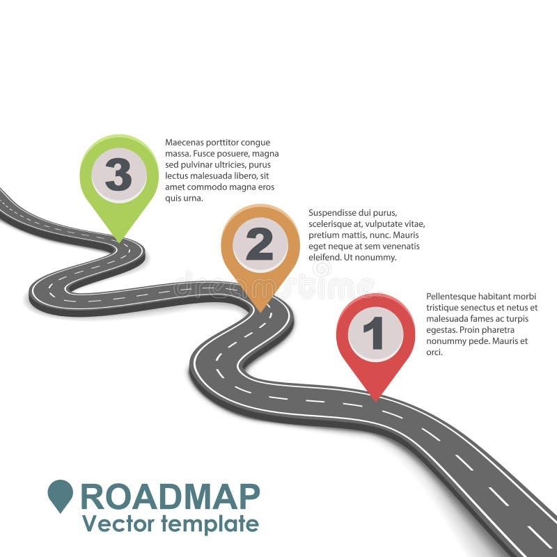 Diseño infographic del mapa itinerario abstracto del negocio ilustración del vector