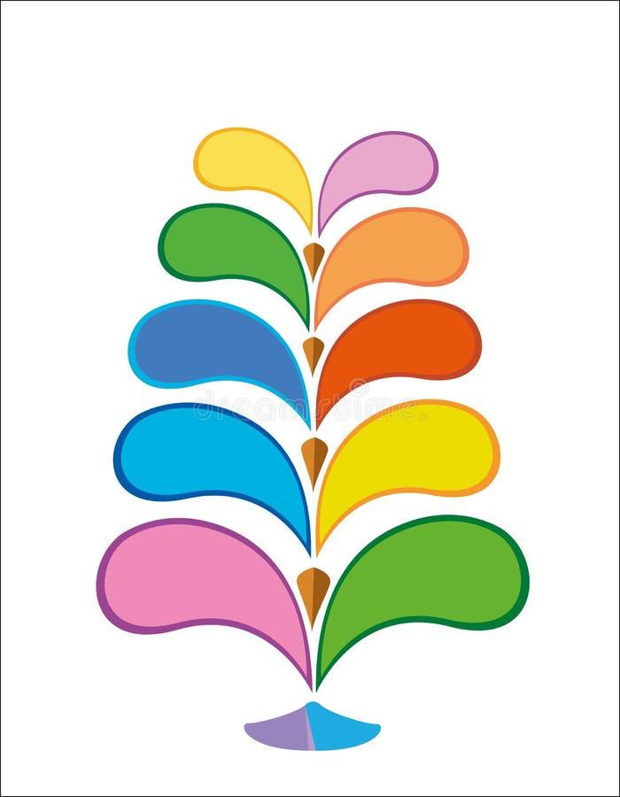 Diseño infographic multicolor del árbol con las opciones para el texto y los datos stock de ilustración