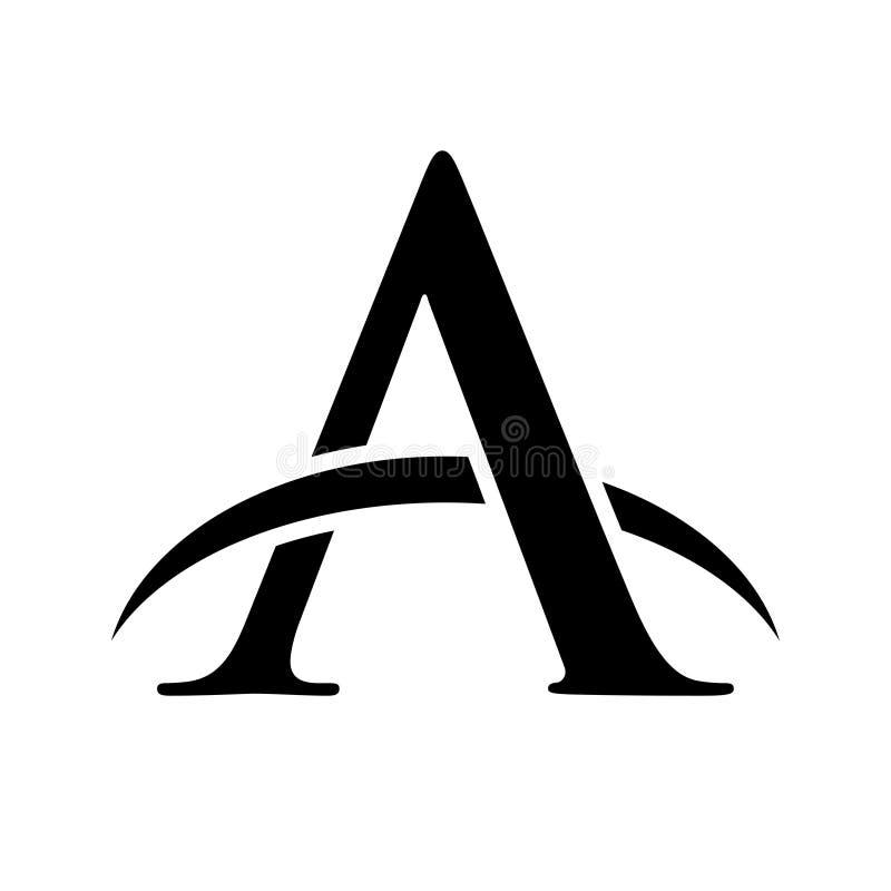Diseño inicial de icono de horizonte de línea de horizonte de marcado A libre illustration