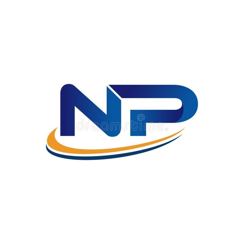 Diseño inicial NP del logotipo libre illustration