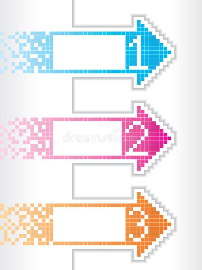 Diseño inmóvil con las flechas a cuadros ilustración del vector