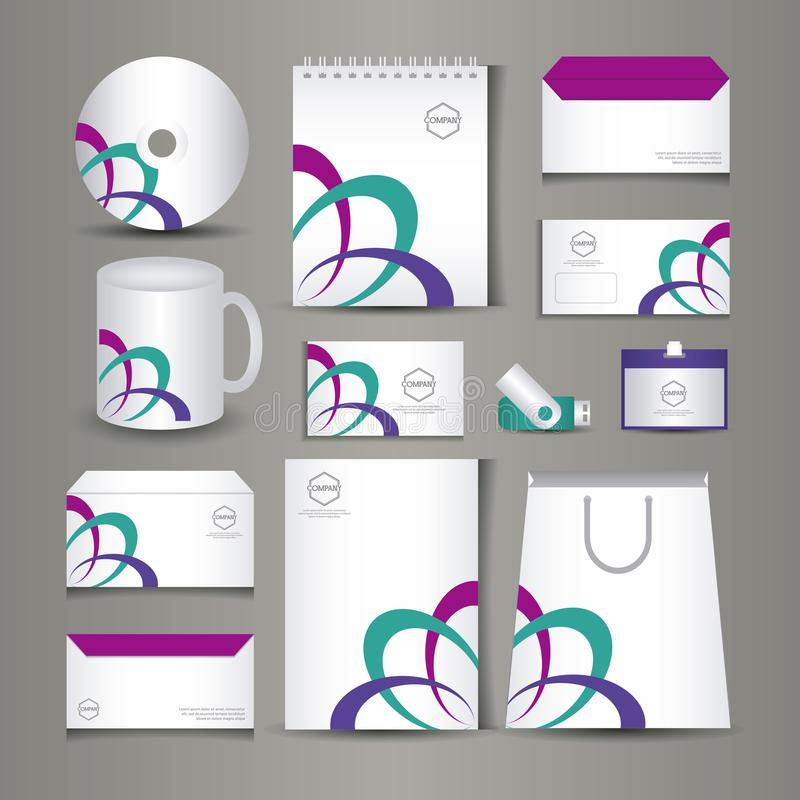 Diseño inmóvil de las plantillas libre illustration