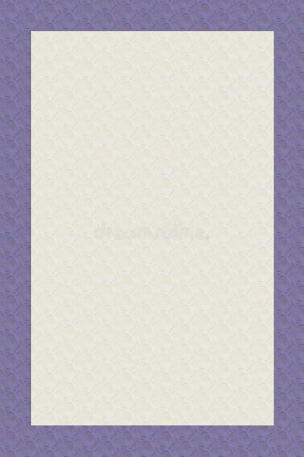 Diseño inmóvil poner crema con el borde púrpura ilustración del vector