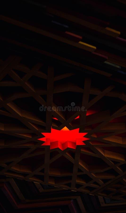 Dise?o interesante de un techo del restaurante foto de archivo libre de regalías