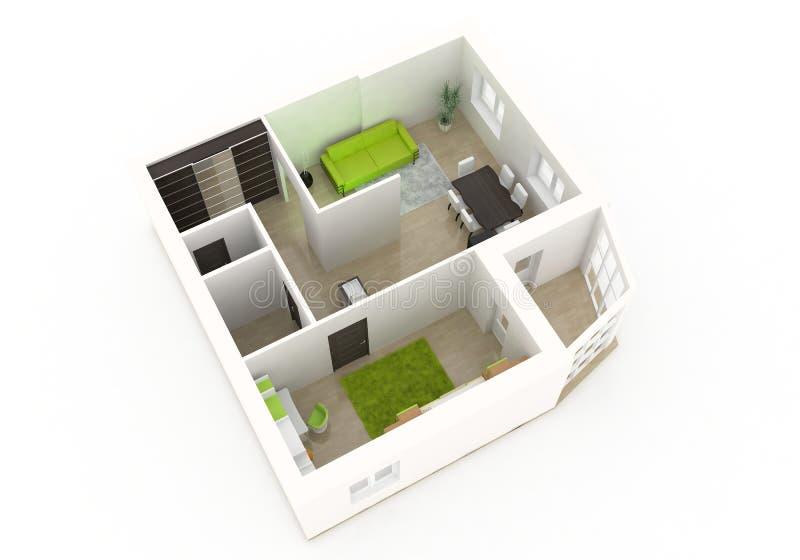 diseño interior 3d stock de ilustración
