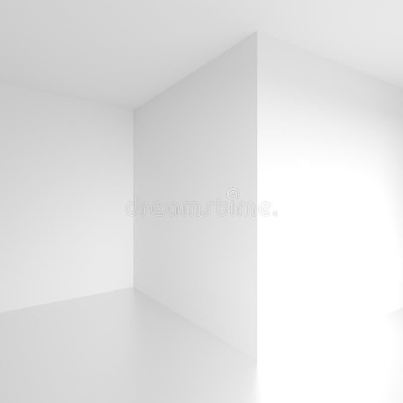 Diseño interior abstracto Sitio vacío blanco stock de ilustración