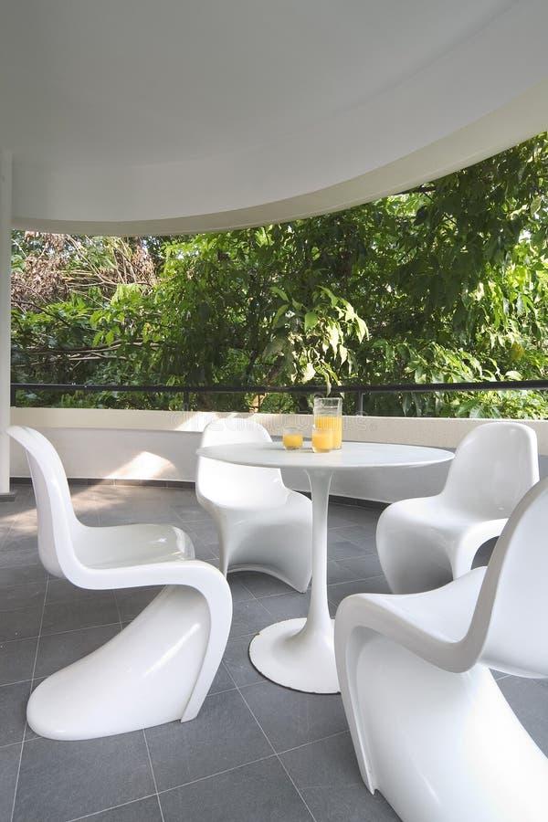 Diseño interior - balcón foto de archivo libre de regalías