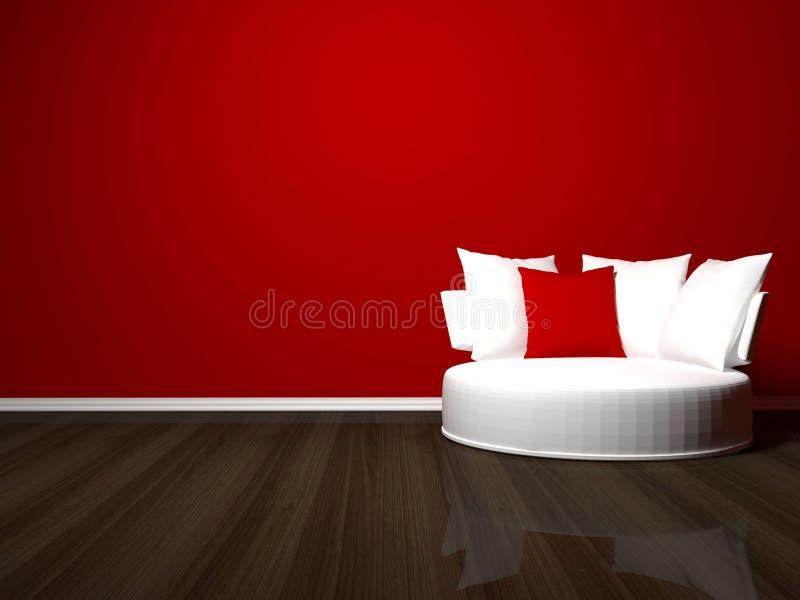 Diseño interior brillante de sala de estar moderna ilustración del vector