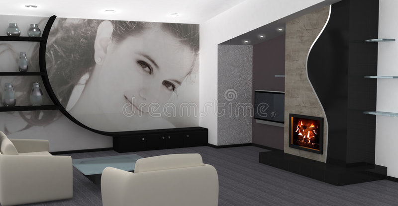 Diseño interior casero imagen de archivo libre de regalías