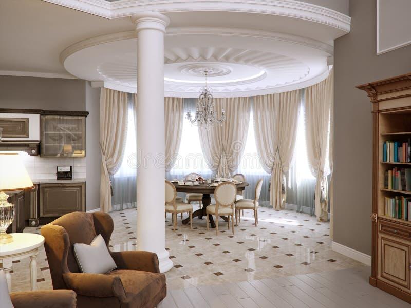 dise o interior cl sico de la sala de estar de la cocina On sala de estar del azulejo interior