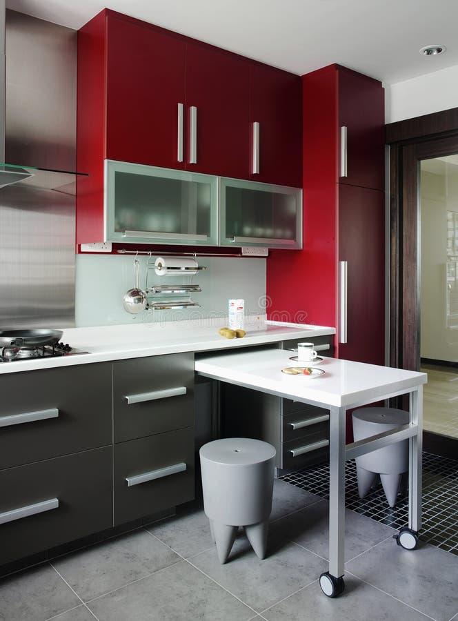Diseño interior - cocina imagen de archivo. Imagen de cortina - 2637251