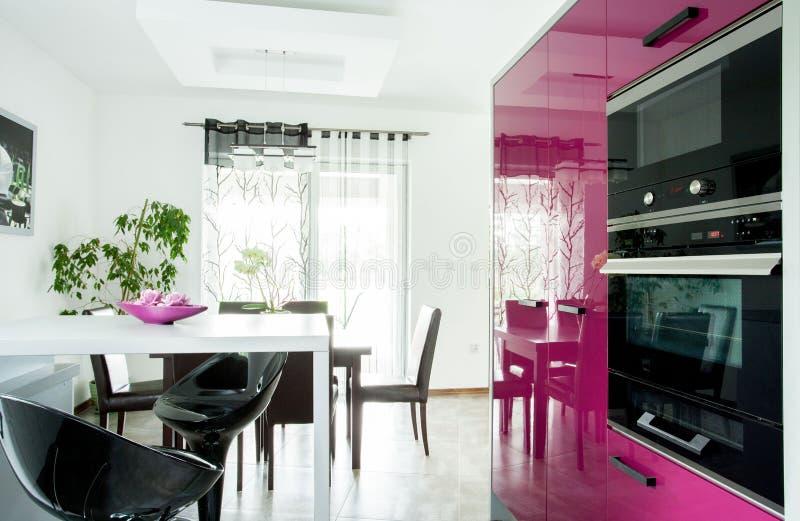 Diseño interior de cocina imágenes de archivo libres de regalías