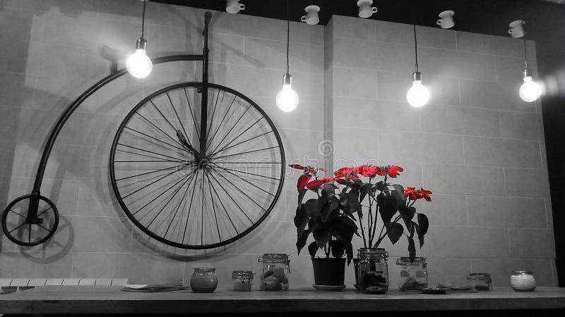 Diseño interior de la bicicleta retra foto de archivo