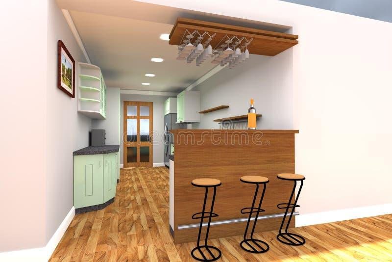 Diseño interior de la casa residencial fotografía de archivo libre de regalías