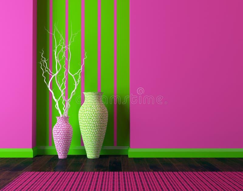 diseño interior de lujo Sala de estar moderna stock de ilustración