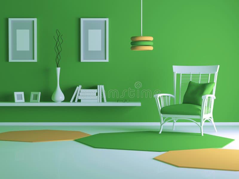 Diseño interior de sala de estar moderna libre illustration