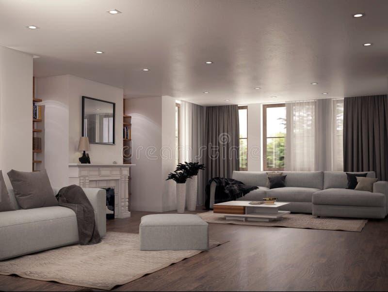 Diseño interior de una sala de estar imagen de archivo libre de regalías