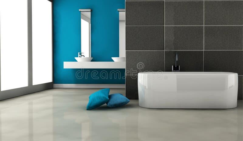 Diseño interior del cuarto de baño stock de ilustración