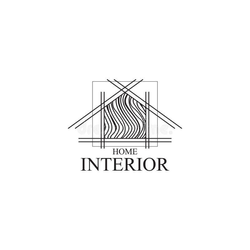 Diseño interior del logotipo, plantilla del vector stock de ilustración