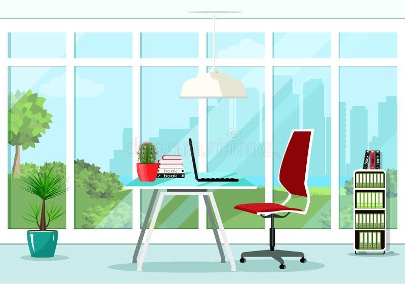 Diseño Interior Del Sitio Gráfico Fresco De La Oficina Con La ...