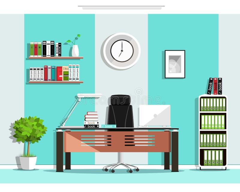Diseño Interior Del Sitio Gráfico Fresco De La Oficina Con Muebles ...