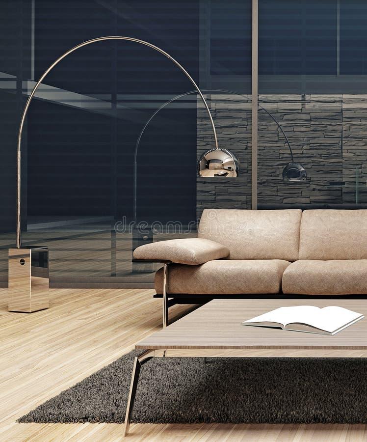 Diseño interior minimalista moderno fotografía de archivo