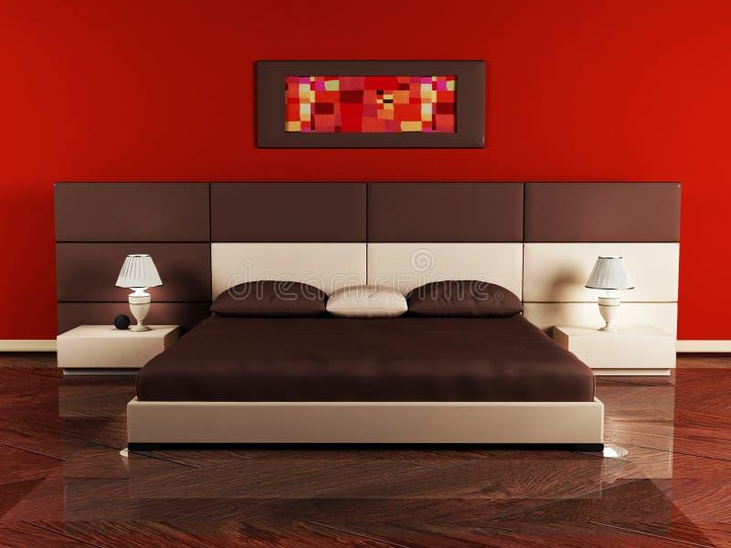 Diseño interior moderno de dormitorio ilustración del vector