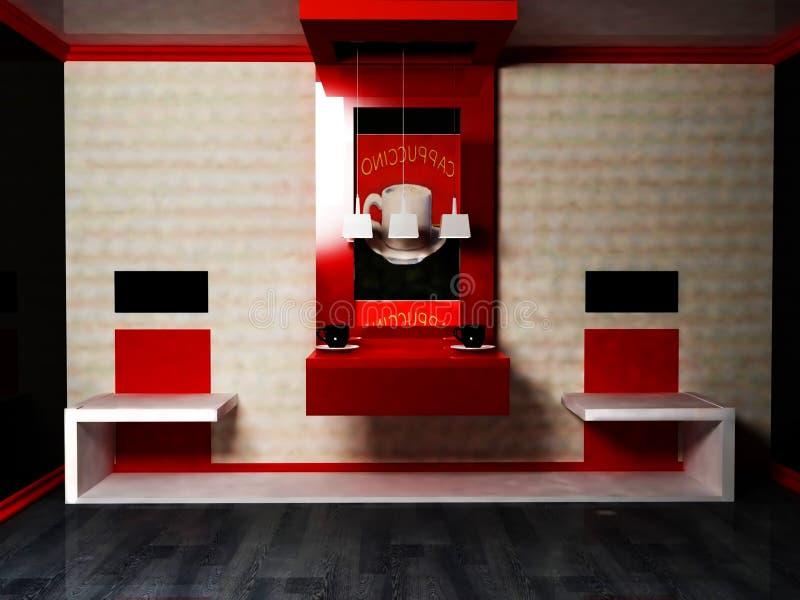 Diseño interior moderno de sala de estar libre illustration