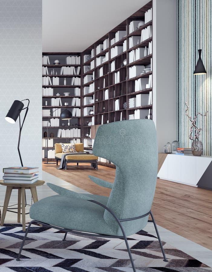 Diseño interior moderno de sala de estar ilustración del vector