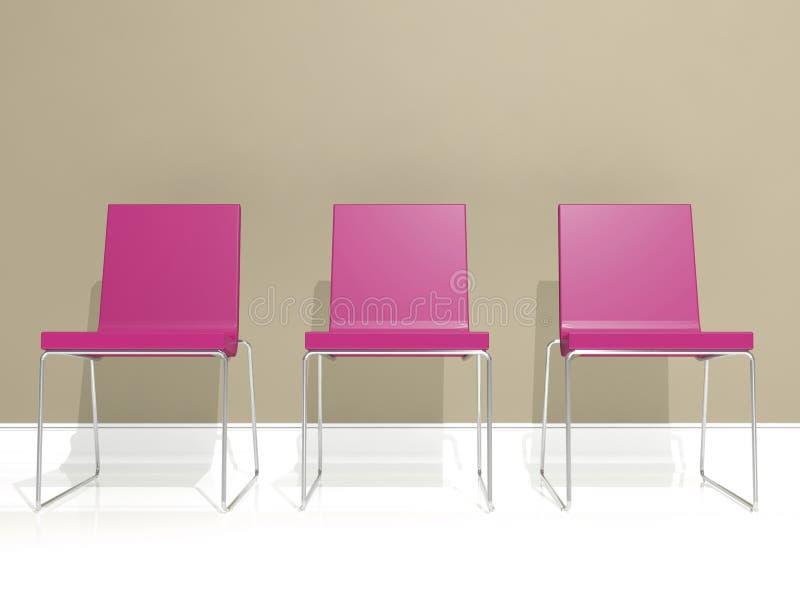 Diseño interior, silla ilustración del vector