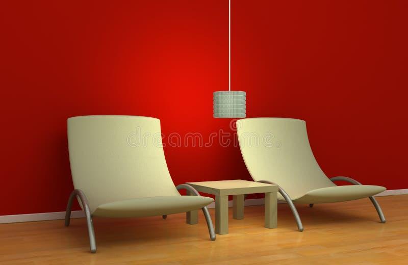 Diseño interior simple ilustración del vector