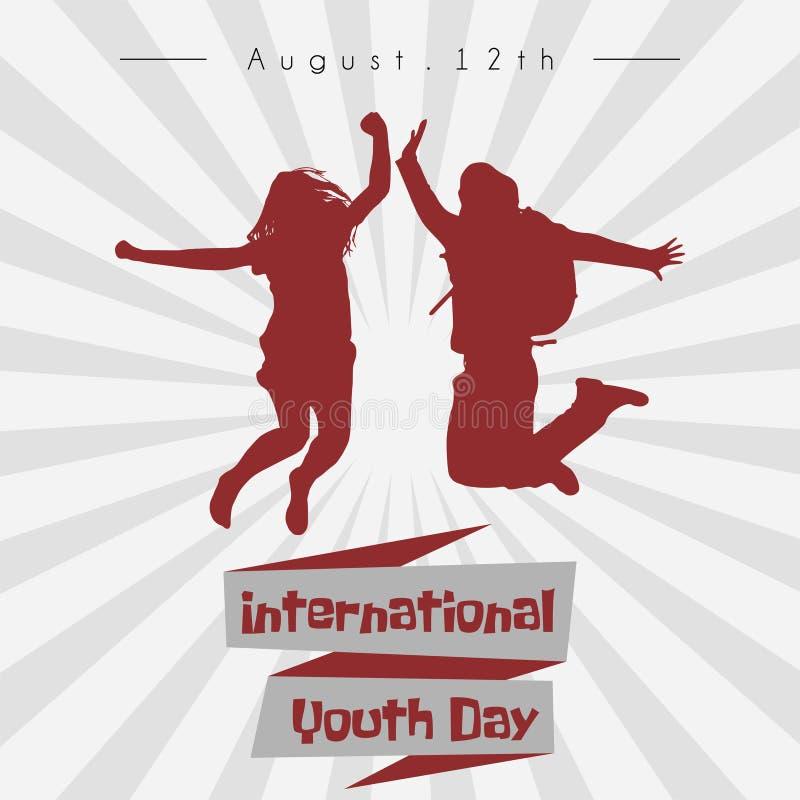 Diseño internacional del vector del día de la juventud ilustración del vector