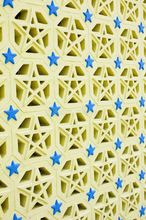 Diseño islámico de los ladrillos del cemento fotografía de archivo libre de regalías